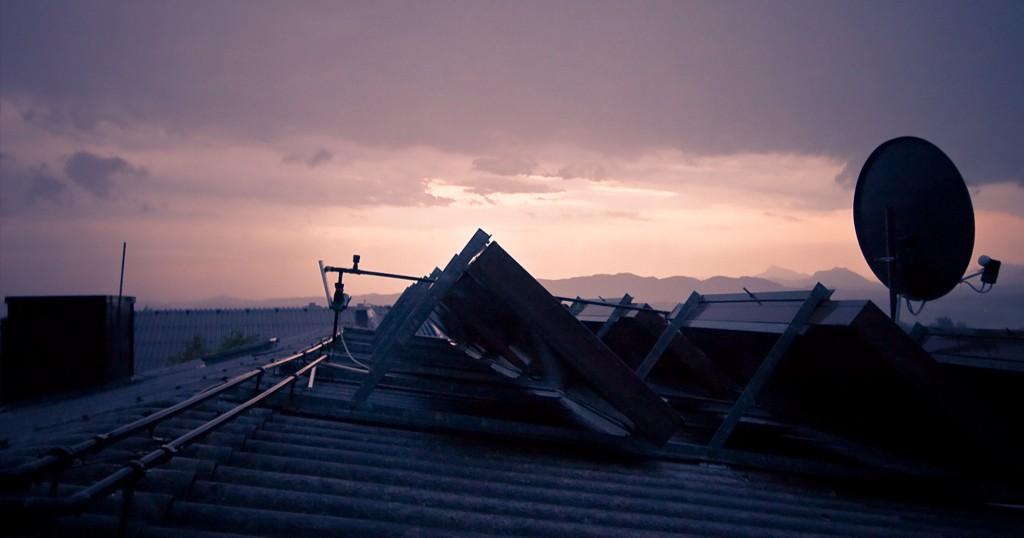 Schatten auf Dächern